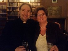 Jayne Ozanne and Gareth Hughes at the Oxford Union, celebrating victory.